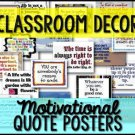Classroom Decor Signs Posters Quotes (126 Posters)