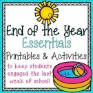End of the Year Activities and Printables Distance Learning