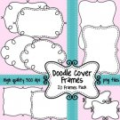 Black and White Doodle Cover Frames & Borders
