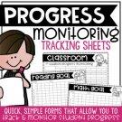 Editable Progress Monitoring Tracking Sheets
