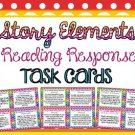 Story Elements Reading Response Task Cards ( for any book )