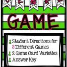 Genre Game Set with Three Game Versions (Great for Centers)