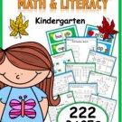 Kindergarten Fall Resource Packet (common core aligned)