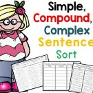 Simple, Compound, and Complex Sentence Sort, Distance Learning