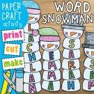 Snowman Name, Word Craft
