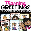 Morning Greetings Choices Morning Greeting Signs Distance Learning