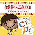 Alphabet Pattern Block Mats (lowercase letters)