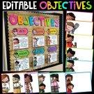 Learning Objectives, Bulletin Board, Objectives Board, Classroom Decor