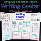 Writing Center - Perfect For Literacy Centers, Work on Writing and Word Work
