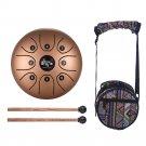 5.5 Inch Tongue Drum Mini 8-Tone Steel Tongue Drum C Key Hand Pan Drum