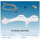 Non-electric Bidet Toilet Attachment Dual Nozzle Bidet Ultra-thin Mechanical Toilet Seat Bidet