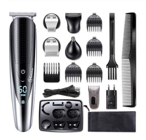 Hair Clipper Men Rechargeable Electric Razor 5 In 1 Hair Trimmer Hair Cutting Machine Beard Trimer