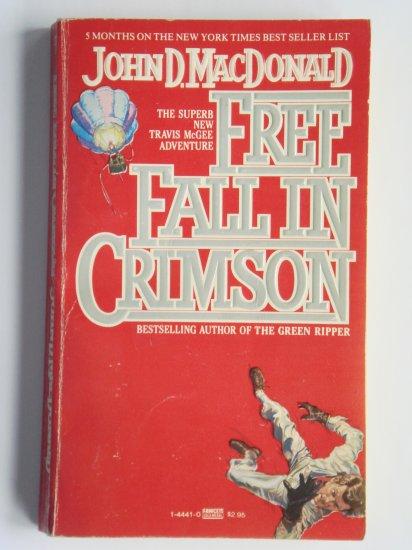 Free Fall In Crimson by John D. MacDonald a Travis McGee murder mystery novel