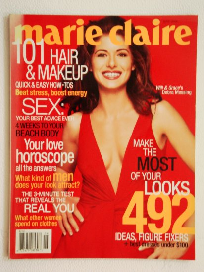 Marie Claire Magazine June 2000 Issue Vol. 7 No. 6 with Debra Messing on the cover