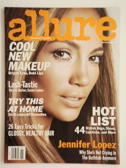 Allure Magazine November 2007 Issue with Jennifer Lopez on cover
