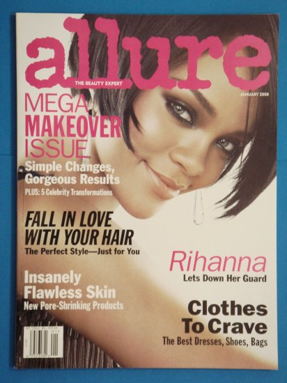 Allure Magazine January 2008 Issue with Rihanna on the cover