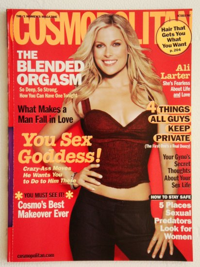 Cosmopolitan Magazine October 2007 Issue Vol. 243 No. 4 with Ali Larter on the cover