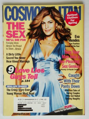 Cosmopolitan Magazine Ferbruary 2007 Issue Vol. 242 No. 2 with Eva Mendes on the cover