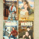 Retro Romance Book Lot 2 Harlequin four novels