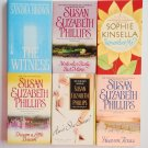 Mixed Romance Book Lot 6 novels Susan Elizabeth Phillips Sophie Kinsella Kinsella Sandra Brown