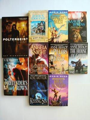 Mixed Fantasy Book Lot novels 10