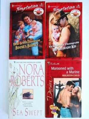 Mixed Romance Book Lot 4 novels Nora Roberts Maureen Child Vicki Lewis Thompson