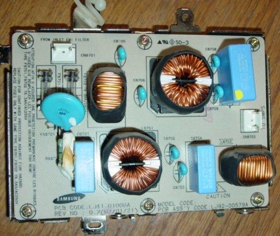 Gateway GTW-P42M203 Power Filter Board - LJ92-00579A - LJ41-01006A