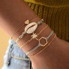 New 5PCs Natural Shell Bracelets for Women Bangles Coconut Tree Bracelets Set Wrist Jewel Bracelets