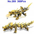 269 369 pcs ninja golden dragon mech 2in1 2 figures building blocks Toy