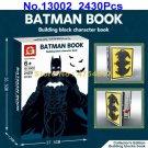 13002 2430pcs superhero batman character book collector edition 58 figures building blocks Toy