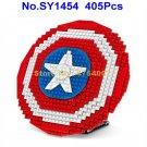 sy1454 405pcs superhero avengers captain america shield 2 figures building block Toy