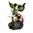 anime one piece green kimono ninja roronoa zoro peace land pvc action figure doll model 35.5cm Toy