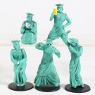 New York Statue of Liberty Funny Mini PVC Figures Collectible Model Toys 5pcs/set