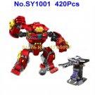420pcs superhero hulkbuster smash proxima 4 figures building block 76104