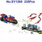 sy1265 235pcs spiderman spider man bike rescue 3 figures building blocks 76113