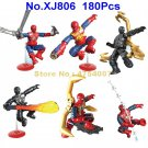 806 180pcs superhero 6 figures spiderman spider man building blocks Toy