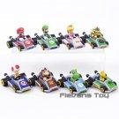 Super Mario Kart Pull Back Car Luigi Bowser Koopa Donkey Cars Figures 8pcs/set