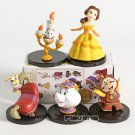 WCF Classic Beauty and The Beast Belle Mini Collectible Figures 5pcs/set