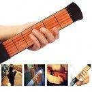 Pocket Guitar Practice Tool/Neck 6Fret Portable Travel Mini Guitar Chord Trainer