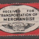 USA - Chain Deliveries - Local Post Parcels 1935ish Stamp T4 Minor Faults as seen