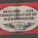 USA - Chain Deliveries - Local Post Parcels 1935ish Stamp T2 Minor Faults as seen