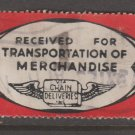 USA - Chain Deliveries - Local Post Parcels 1935ish Stamp T3 Minor Faults as seen
