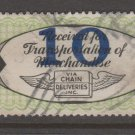 USA - Chain Deliveries - Local Post Parcels 1935ish Stamp T5 - nice condition