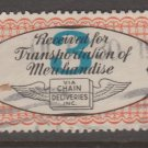 USA - Chain Deliveries - Local Post Parcels 1935ish Stamp T6 - nice condition