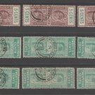 UK Colonies Ceylon Telegraph revenue Fiscal stamp 10-23-20-20