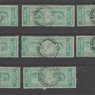 UK Colonies Ceylon Telegraph revenue Fiscal stamp 10-23-20-21