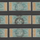UK Colonies Ceylon Telegraph revenue Fiscal stamp 10-23-20-22