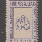 France Military Charity revenue Fiscal stamp 10-27-20-9 no gum