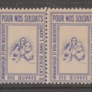 France Military Charity revenue Fiscal stamp 10-28-20- no gum