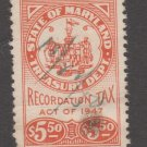 USA - State Revenue Fiscal Stamp 11-7-20-73b Maryland